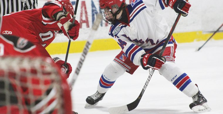Moving her way up on the team, Alissa General now takes the face-offs for the KW Rangers. (Photo By Josh Giles)