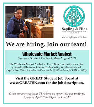 Sapling and Flint Wholesale Market Analyst wanted